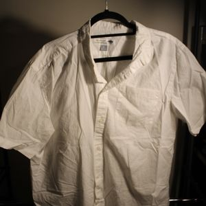 Men's Old Navy White Short Sleeve Button Down